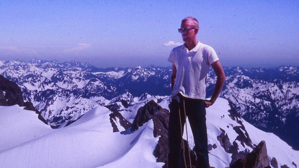 Bill Liggett climbing in Alaska